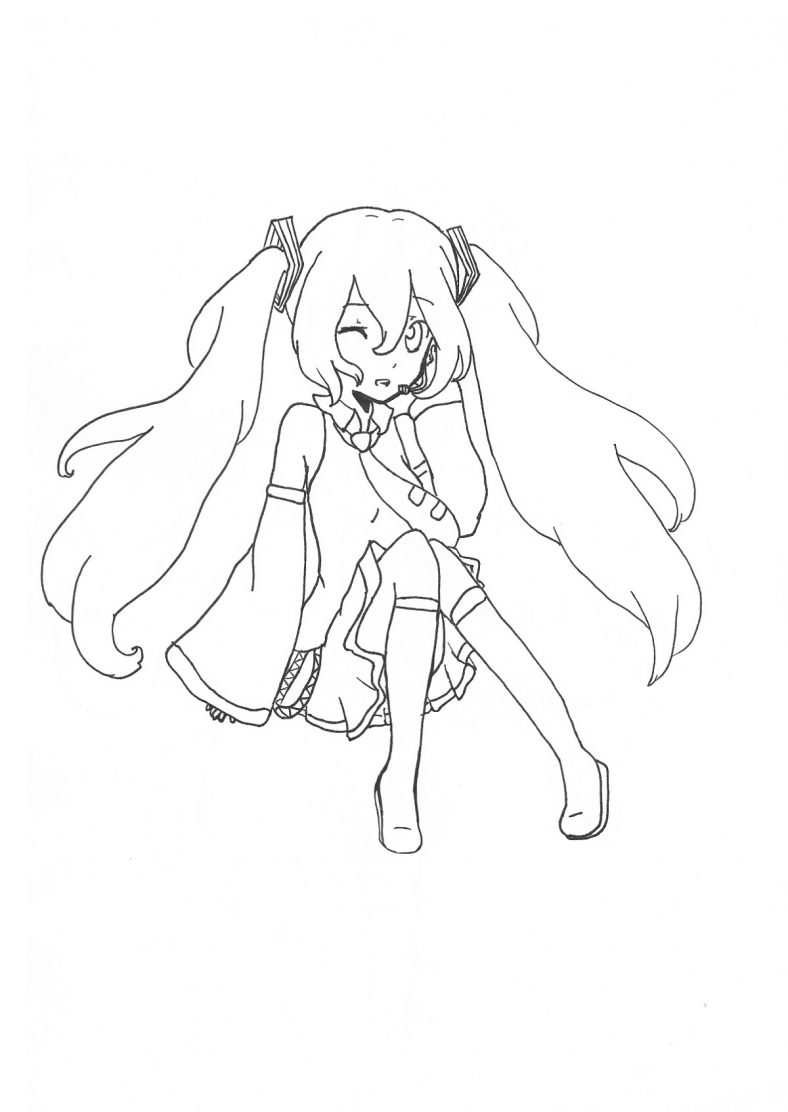 hatsune miku coloring pages 5
