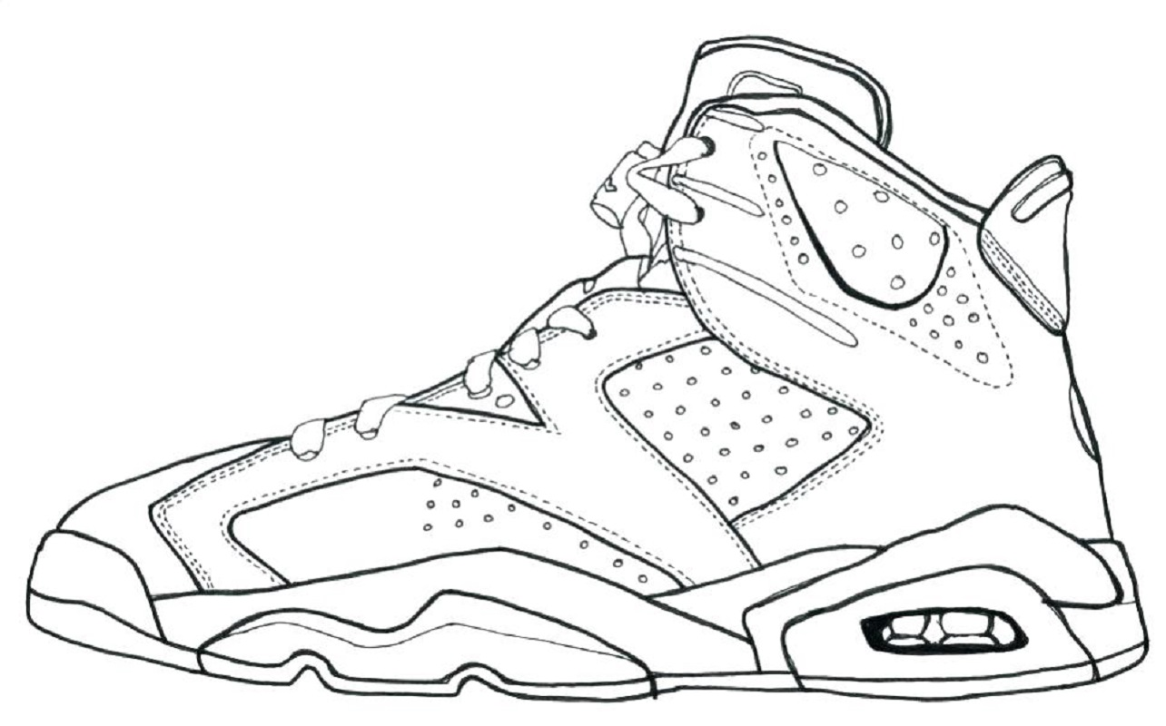 Jordan 11 Coloring Page For Exercise Educative Printable