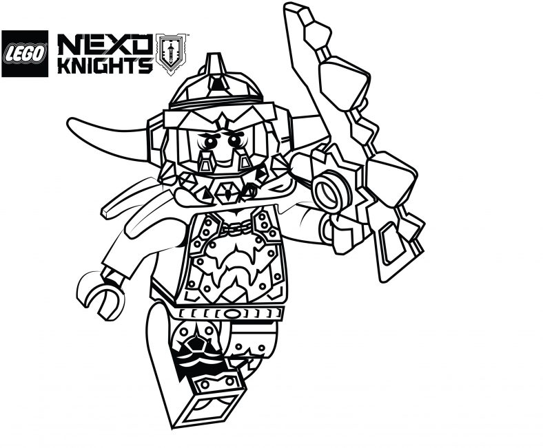 lego nexo knights coloring pages ash attacker