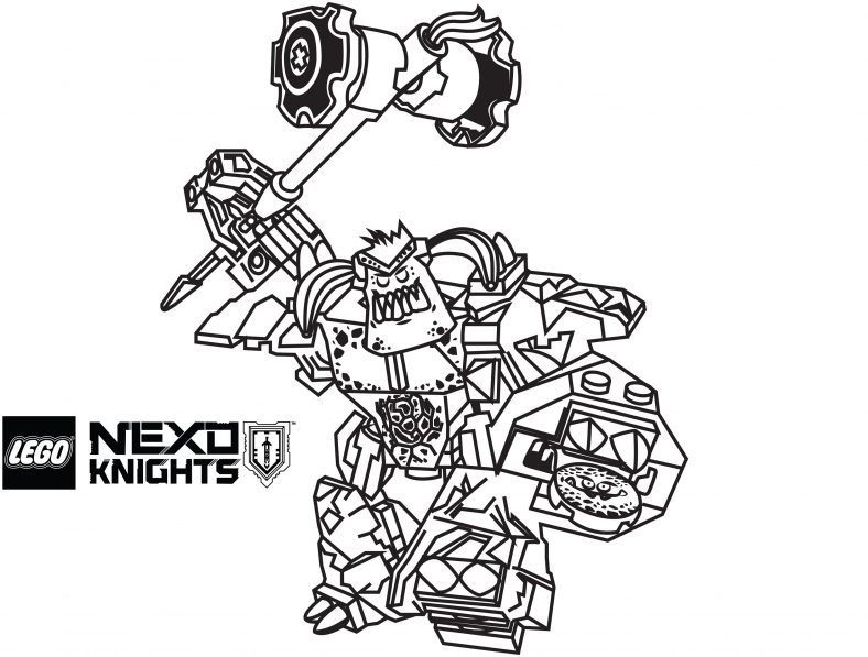 lego nexo knights coloring pages burnzie
