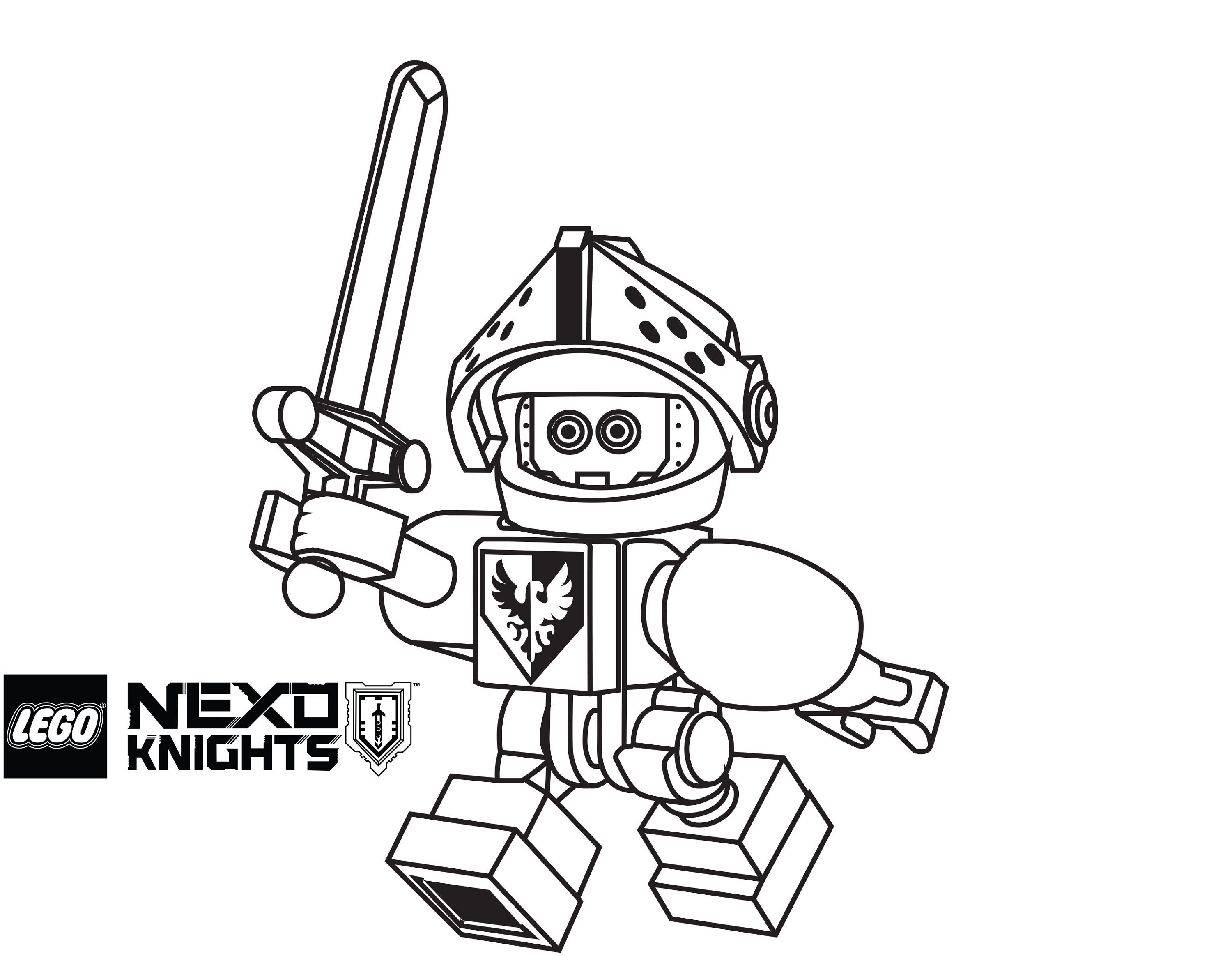 lego nexo knights coloring pages claybot