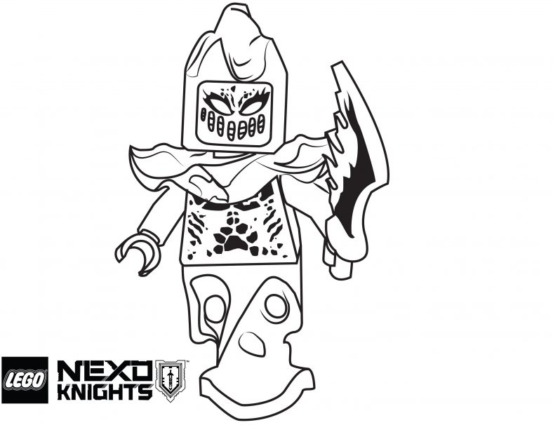 lego nexo knights coloring pages flama