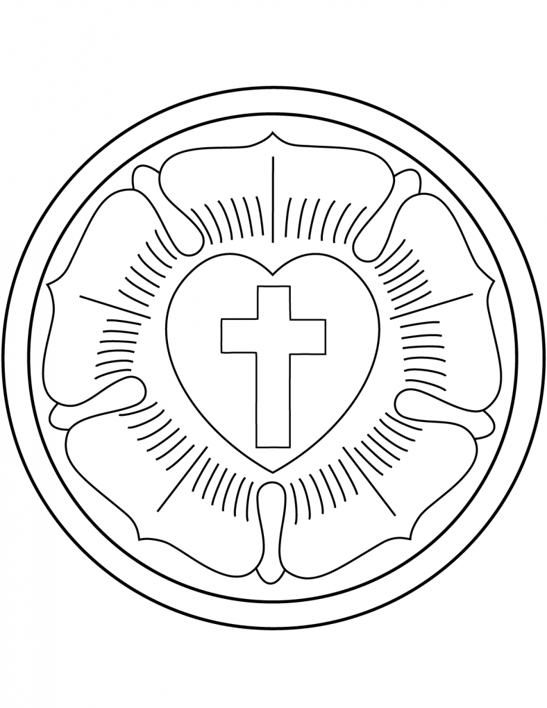 luther rose coloring page 1