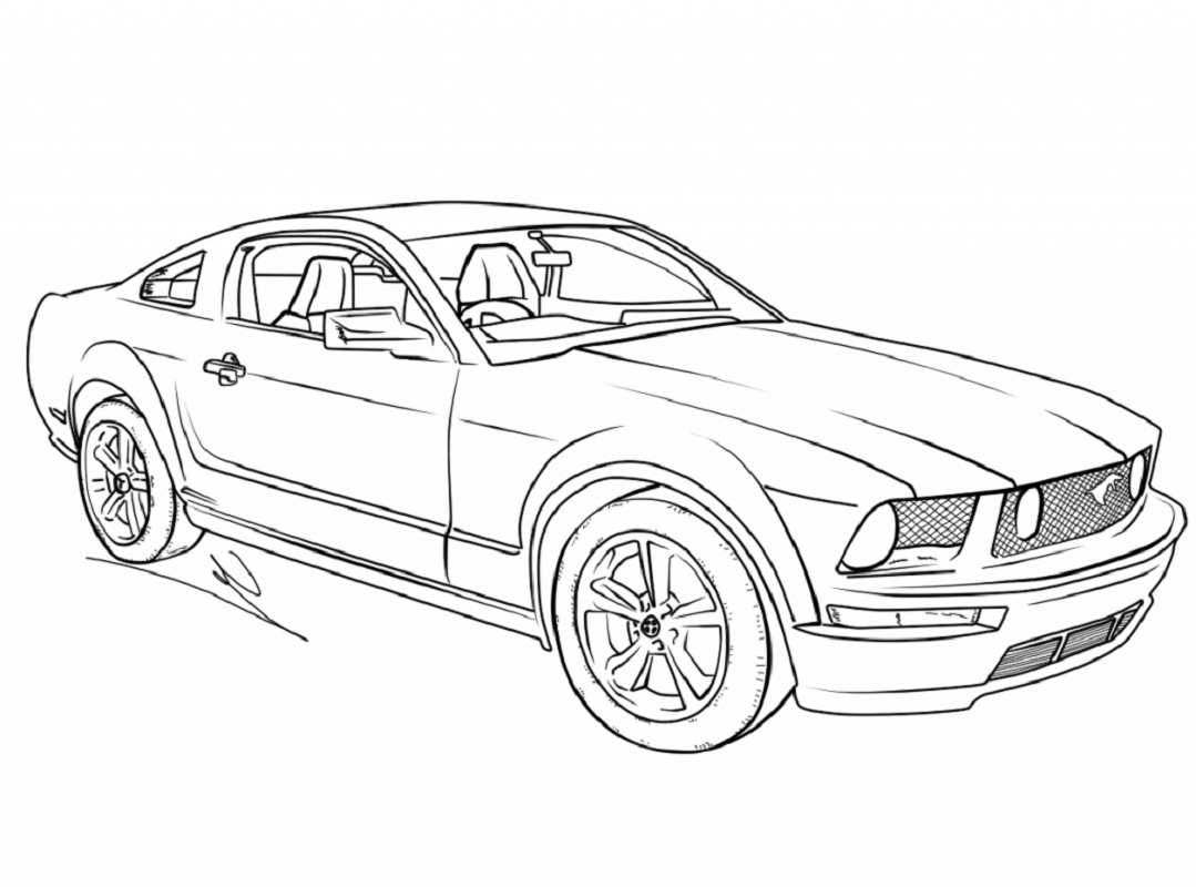 mustang coloring pages 2