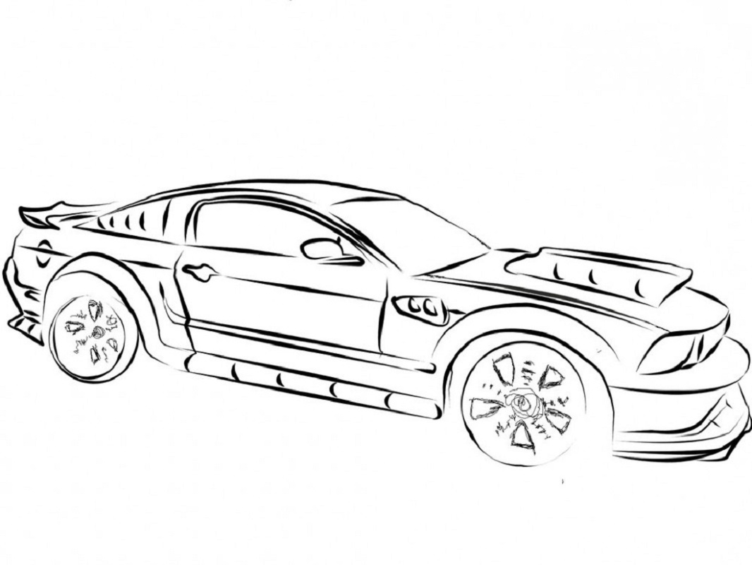 mustang coloring pages 5