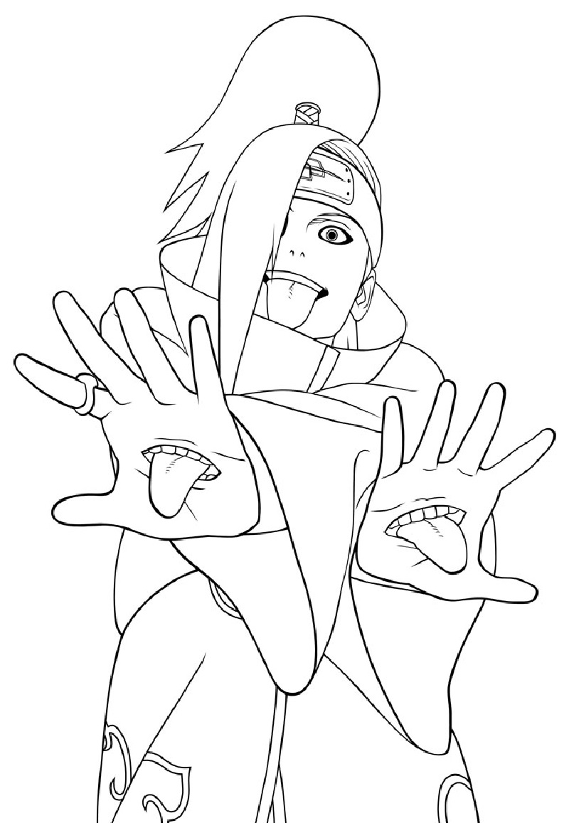 naruto coloring pages 3
