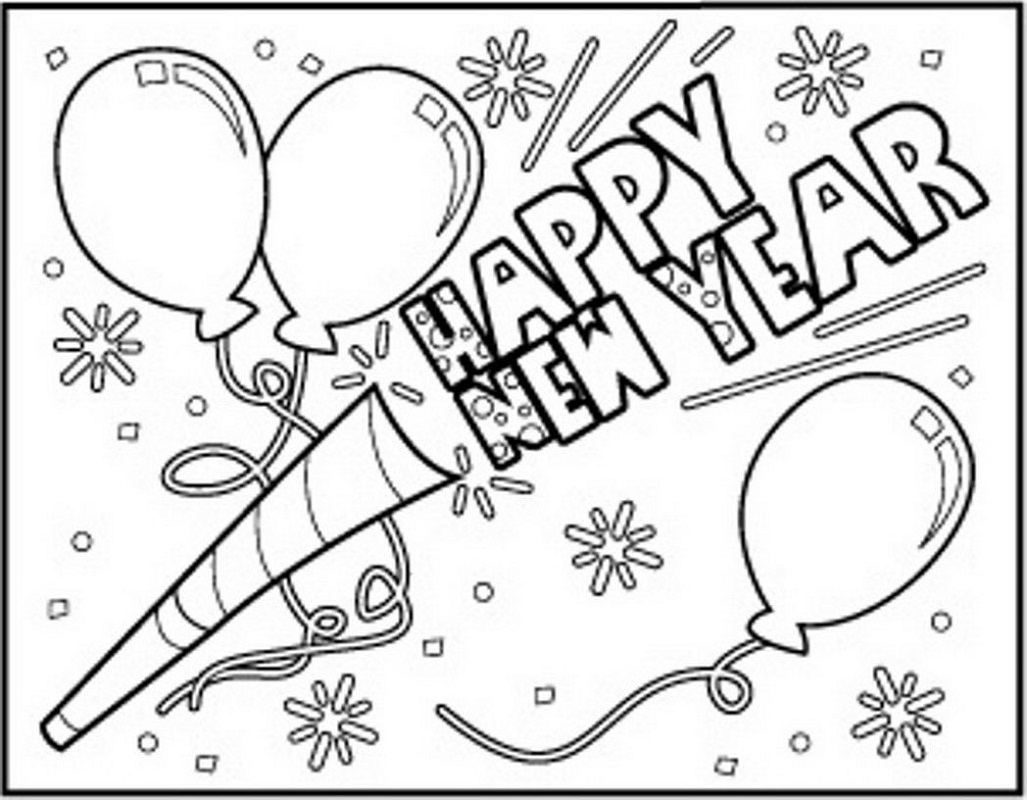 new years coloring pages 2