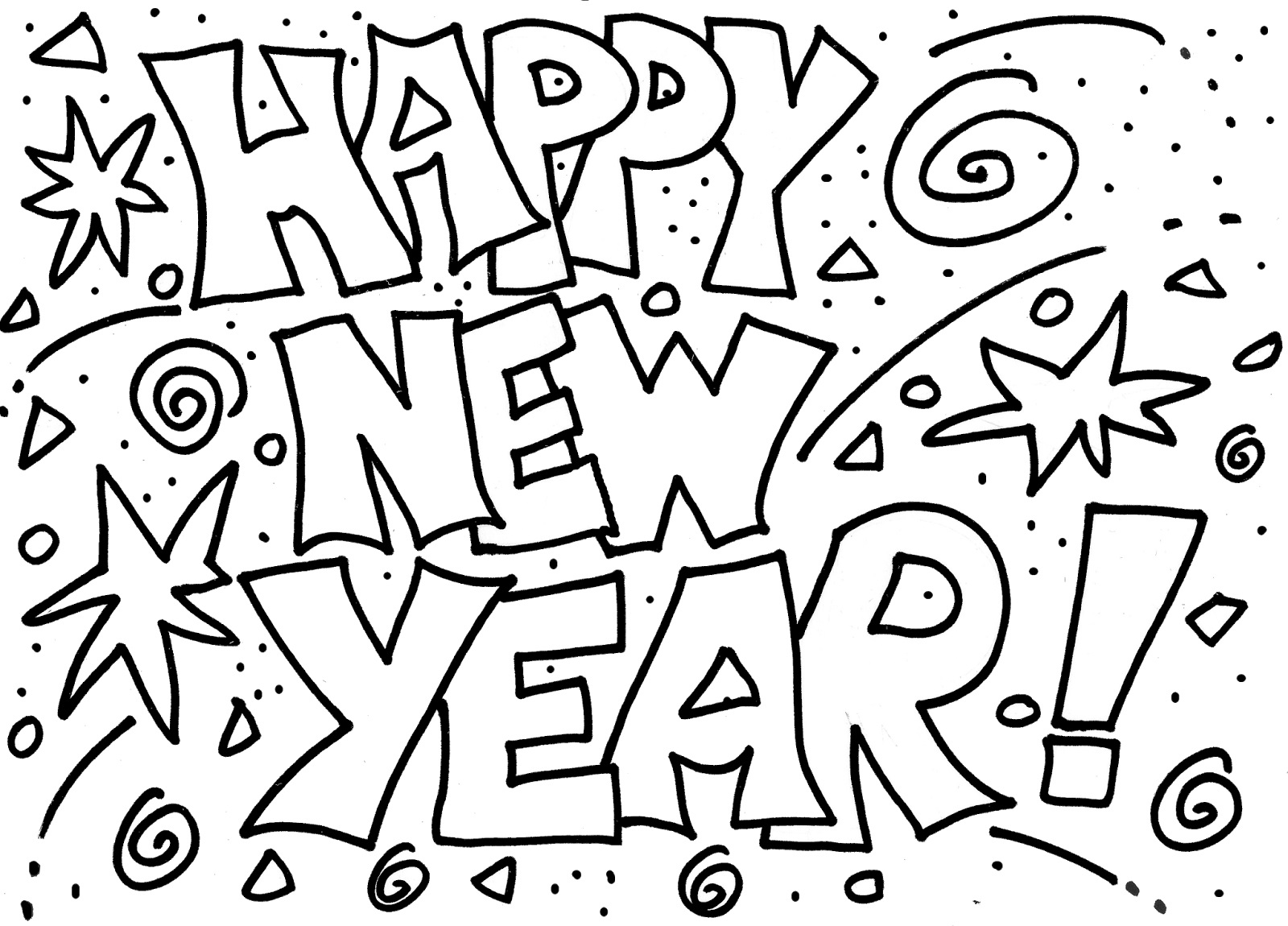 new years coloring pages 3