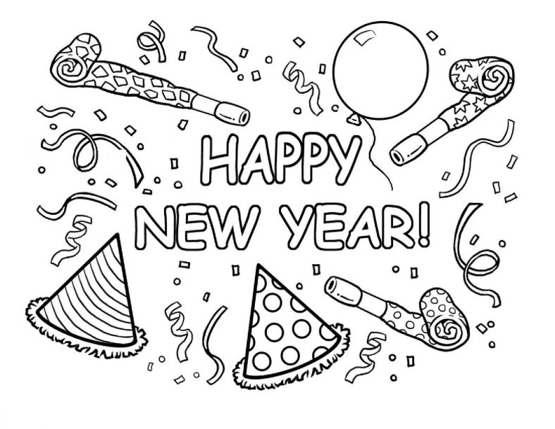 new years coloring pages 4