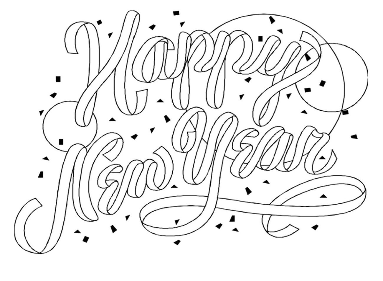 new years coloring pages 5