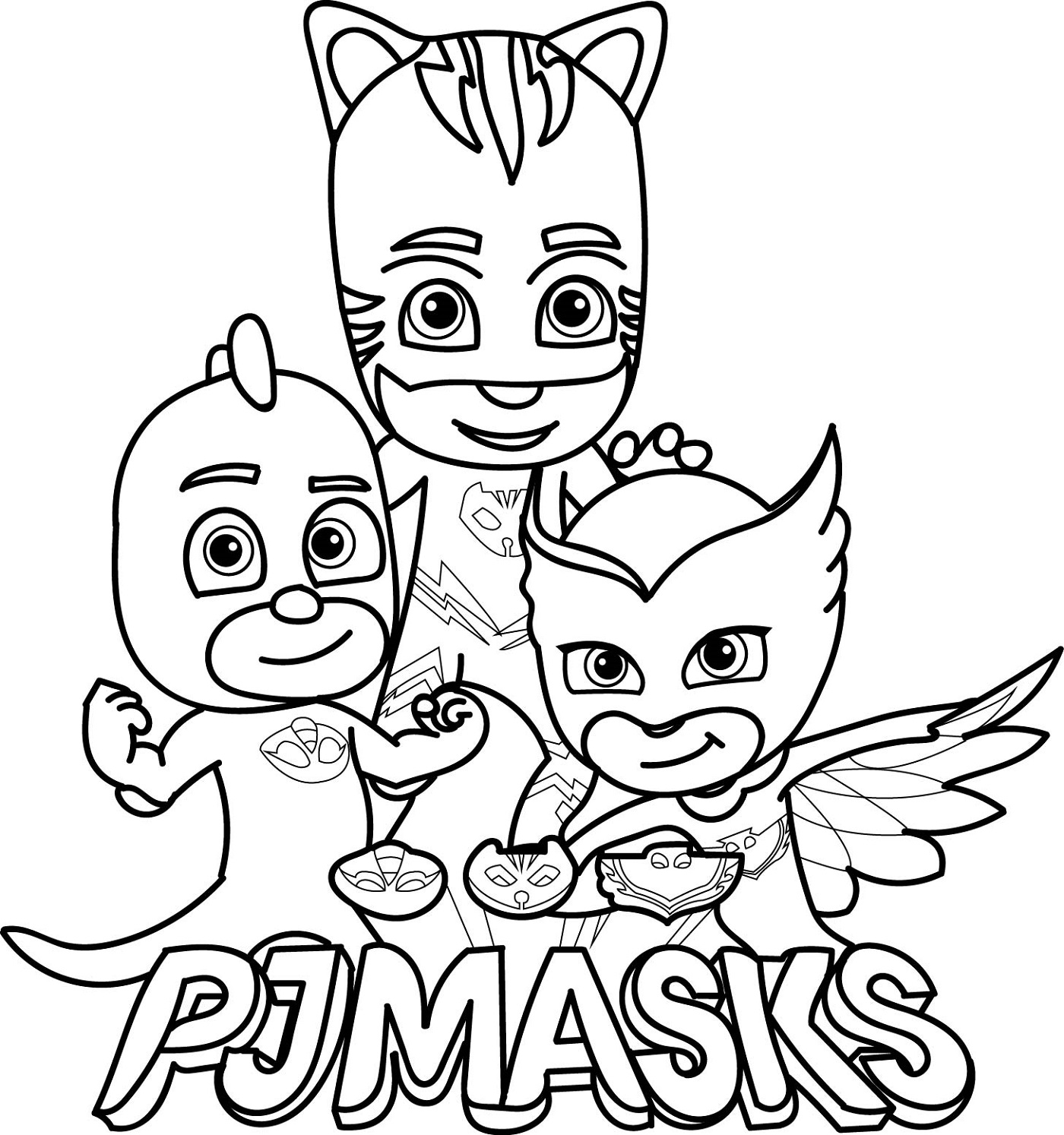 pj masks coloring 1