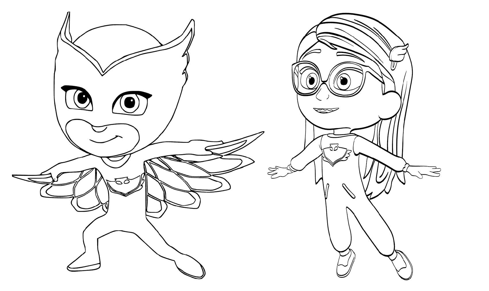 pj masks coloring 2