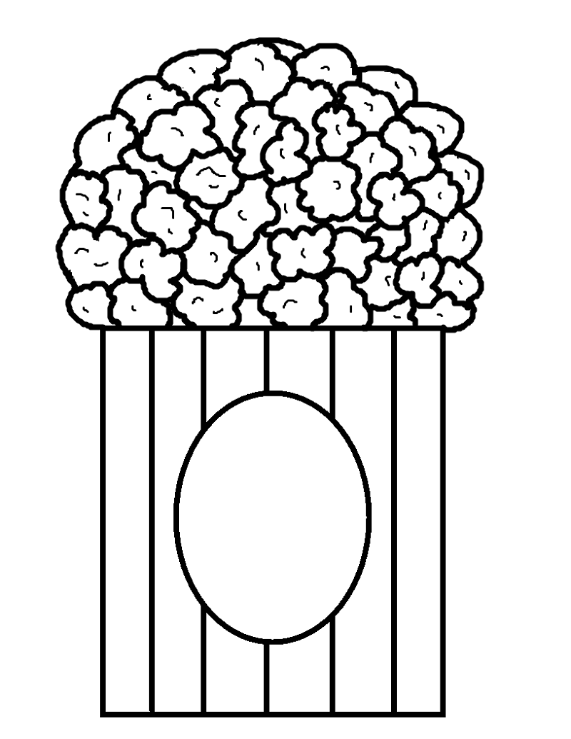 popcorn coloring page 2