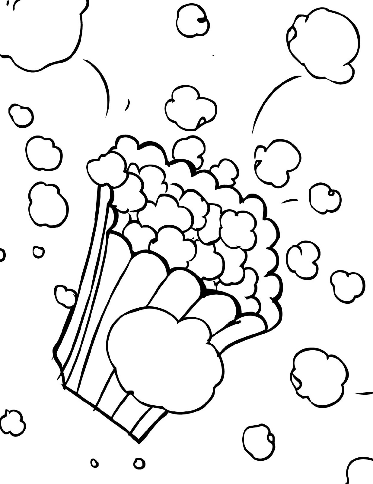 popcorn coloring page 3