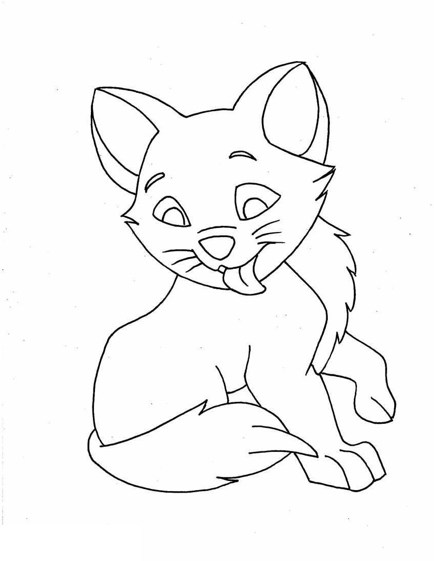 printable kitten coloring pages 3