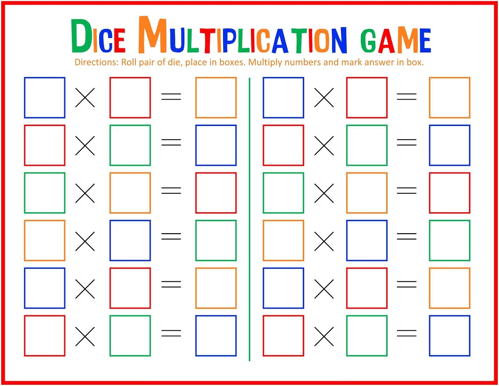 printable math games 3