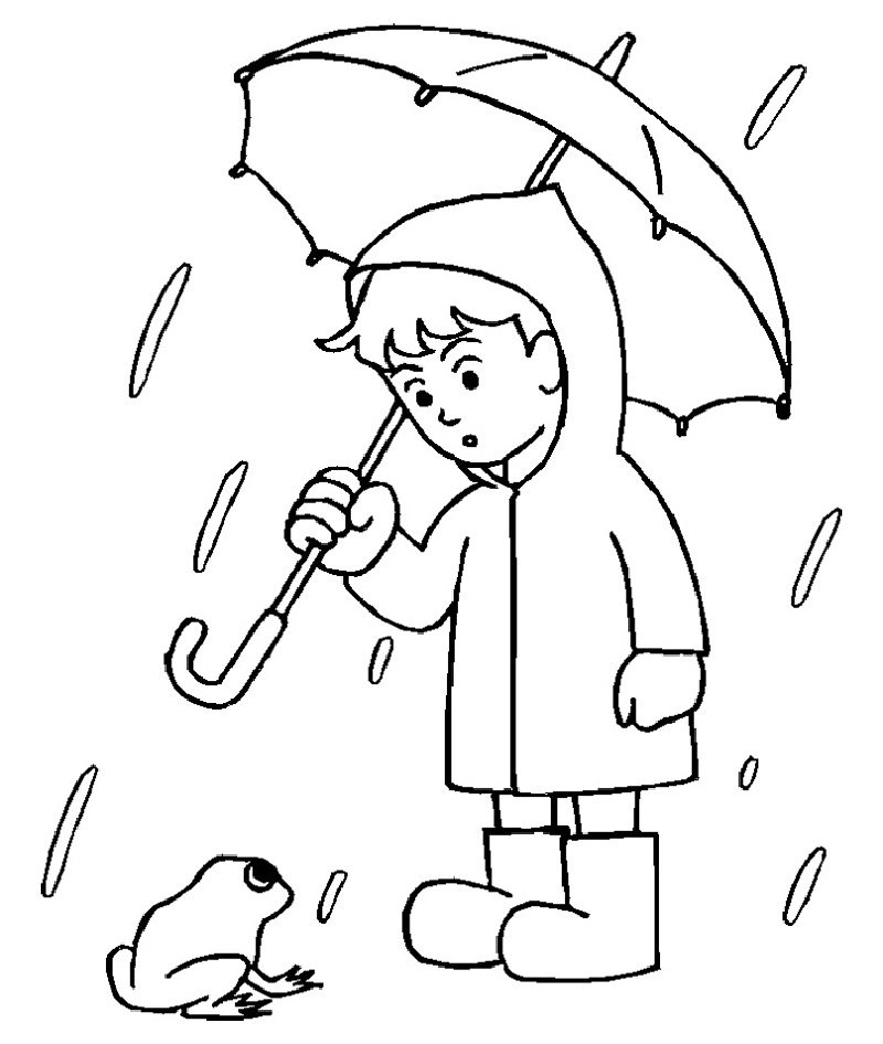 rainy day coloring pages 1