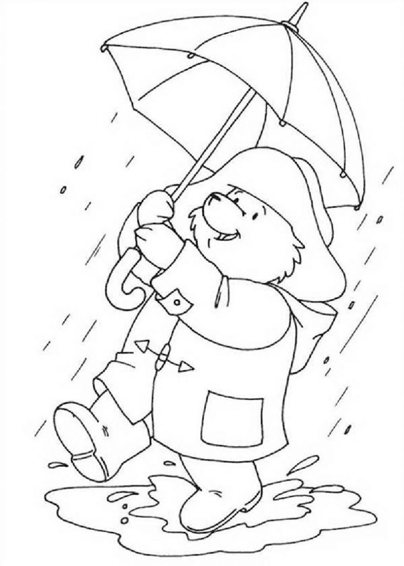 rainy day coloring pages 4