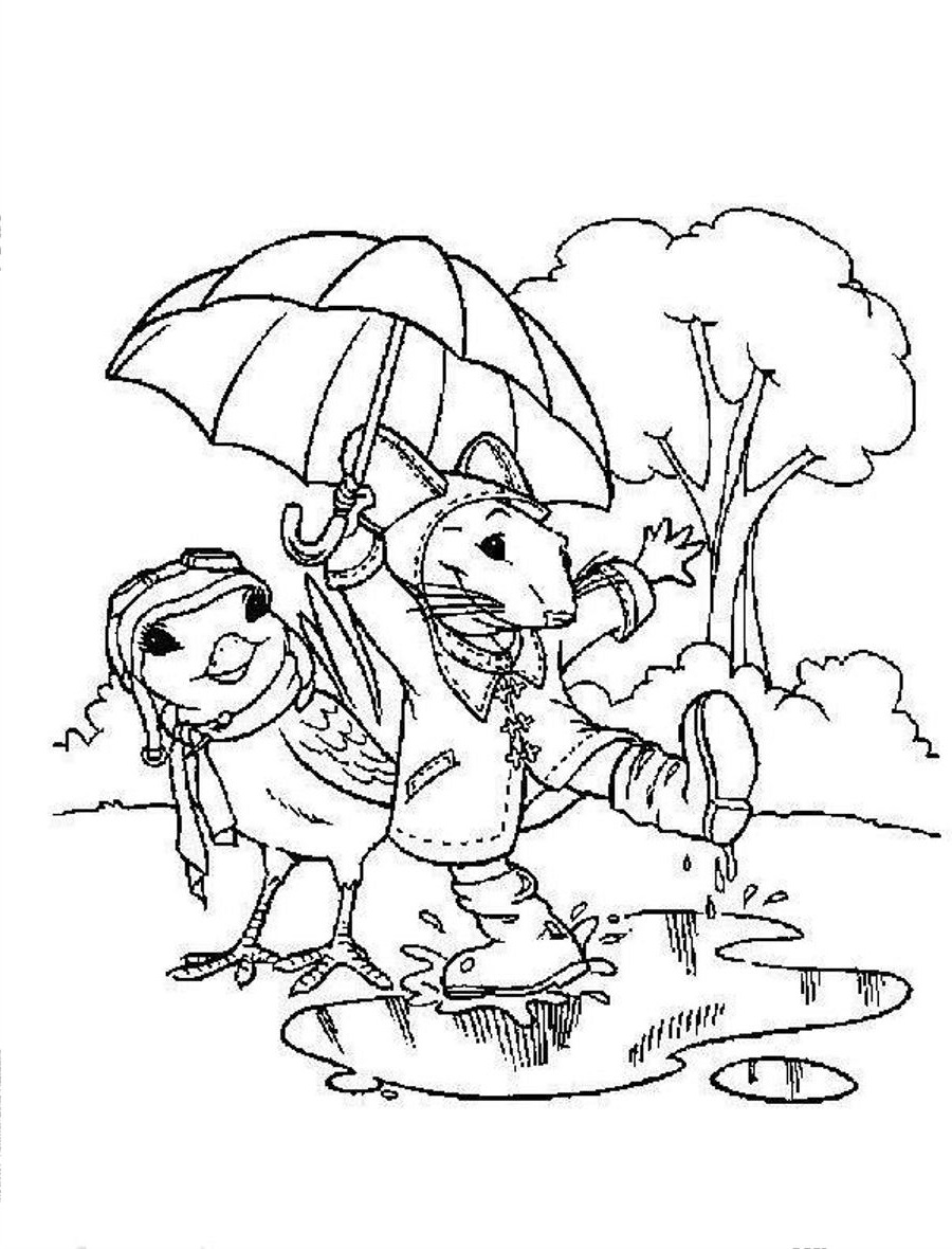 rainy day coloring pages 5