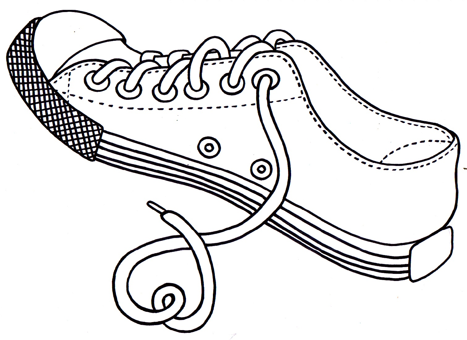 shoe coloring page 1