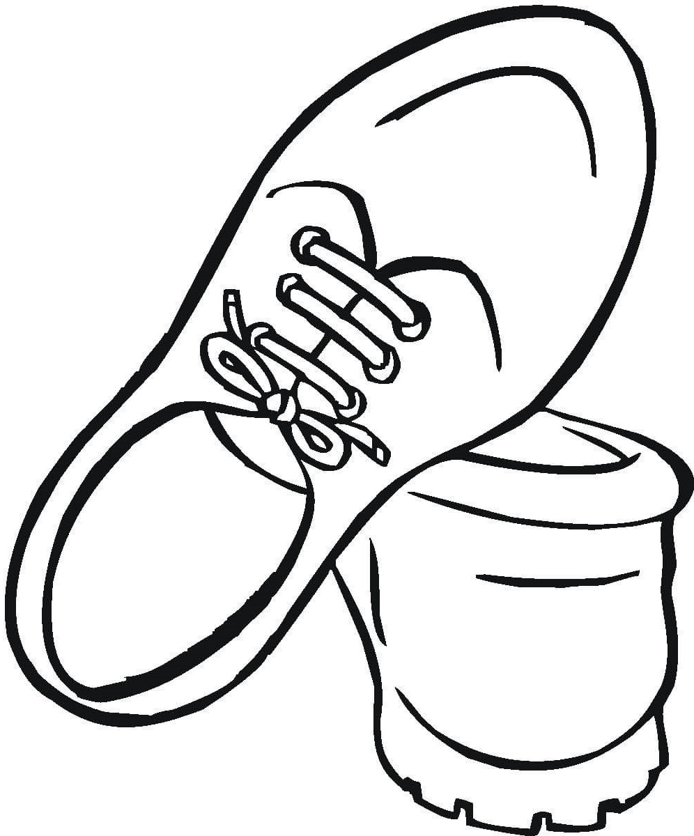 shoe coloring page 4