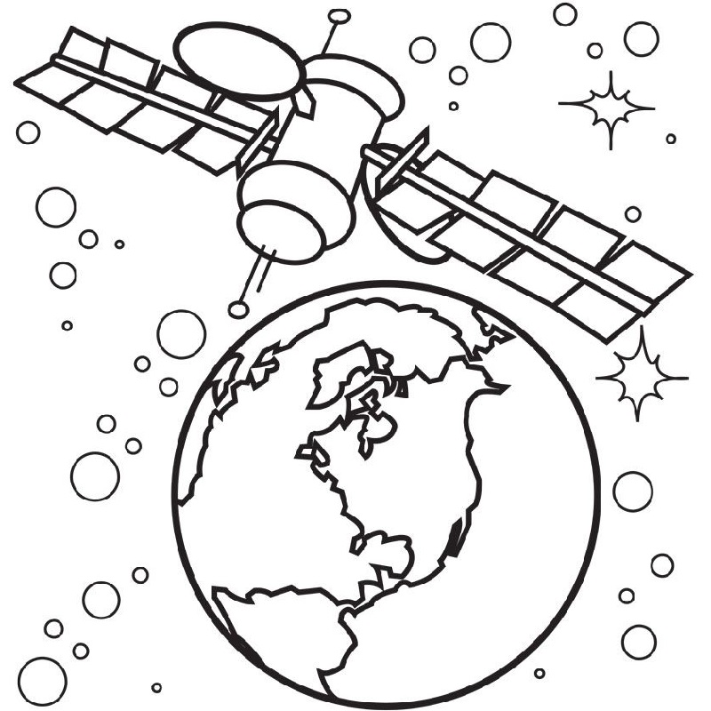 space coloring pages earth