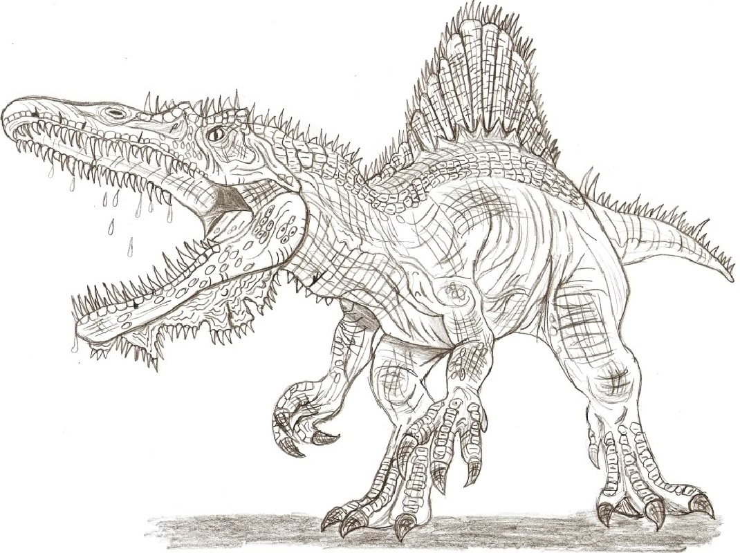 spinosaurus coloring page 1