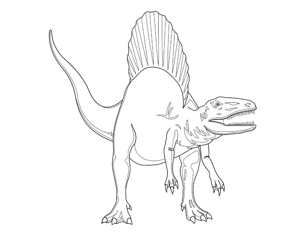 spinosaurus coloring page 3