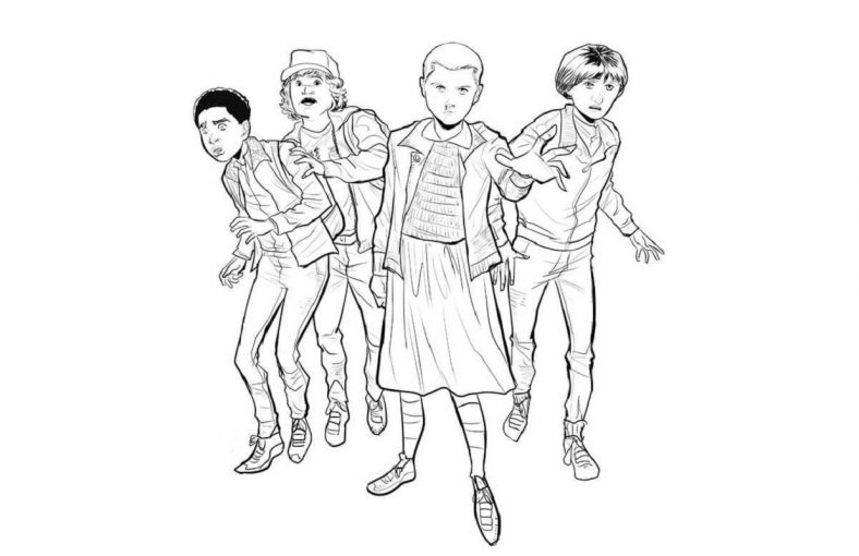 stranger things coloring pages 2