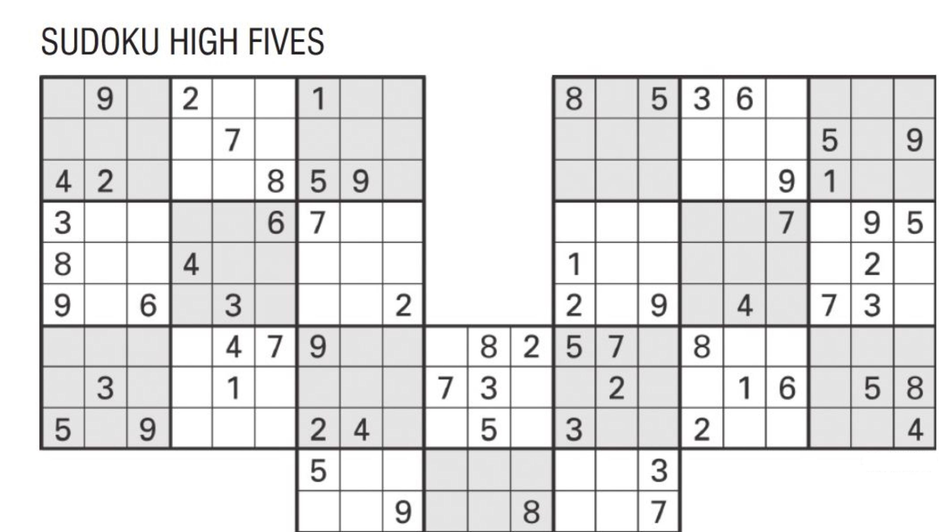 sudoku high fives 3
