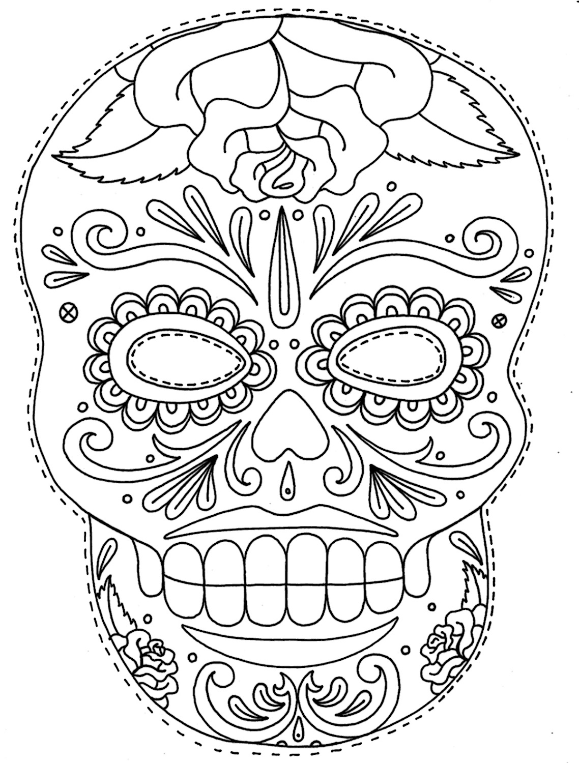 sugar skull coloring pages sugar skull 1