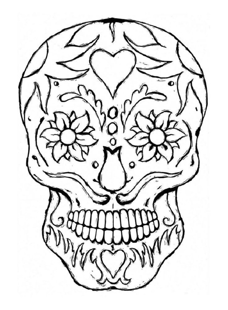 sugar skull coloring pages sugar skull 2
