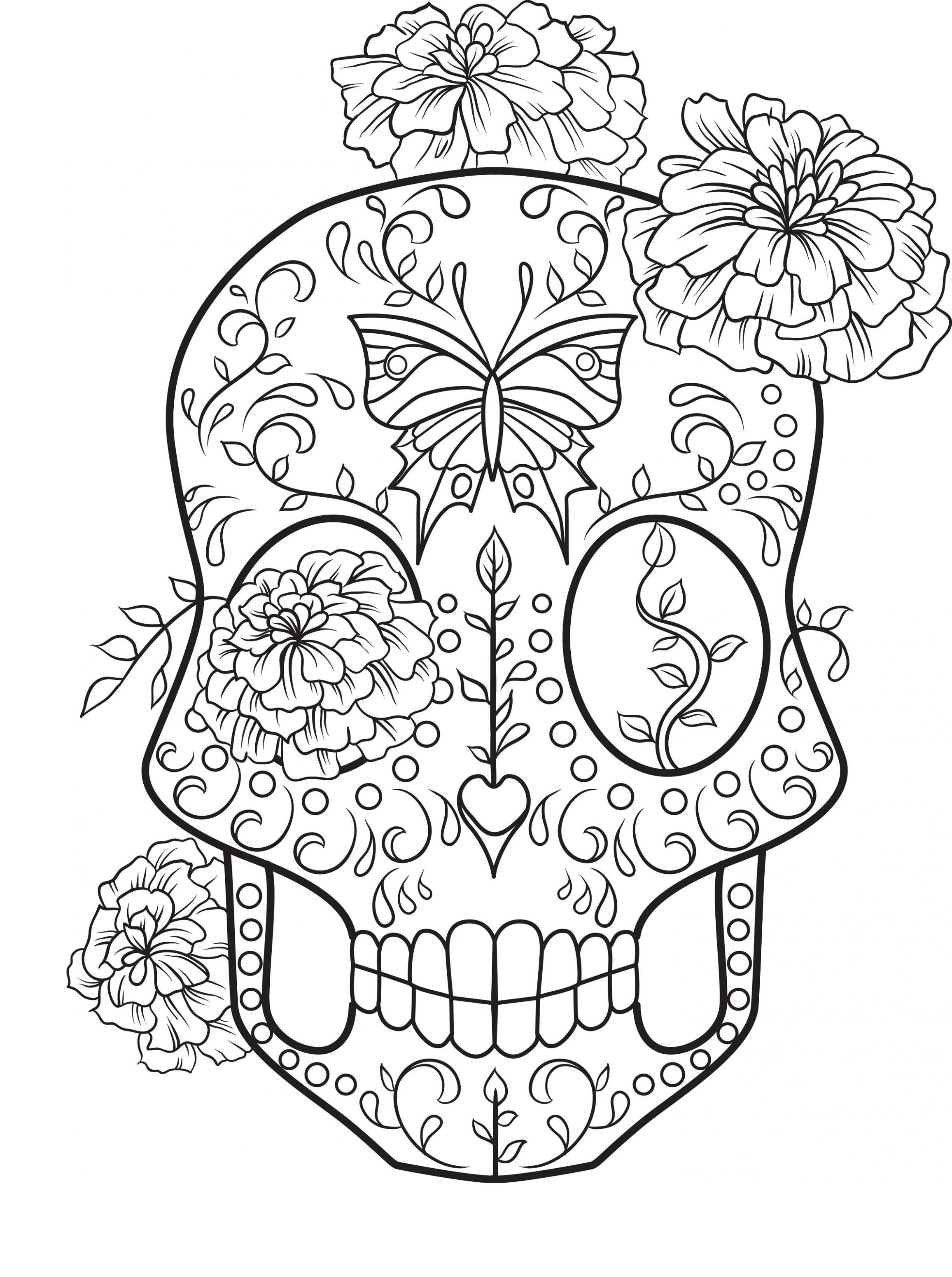 sugar skull coloring pages sugar skull 3