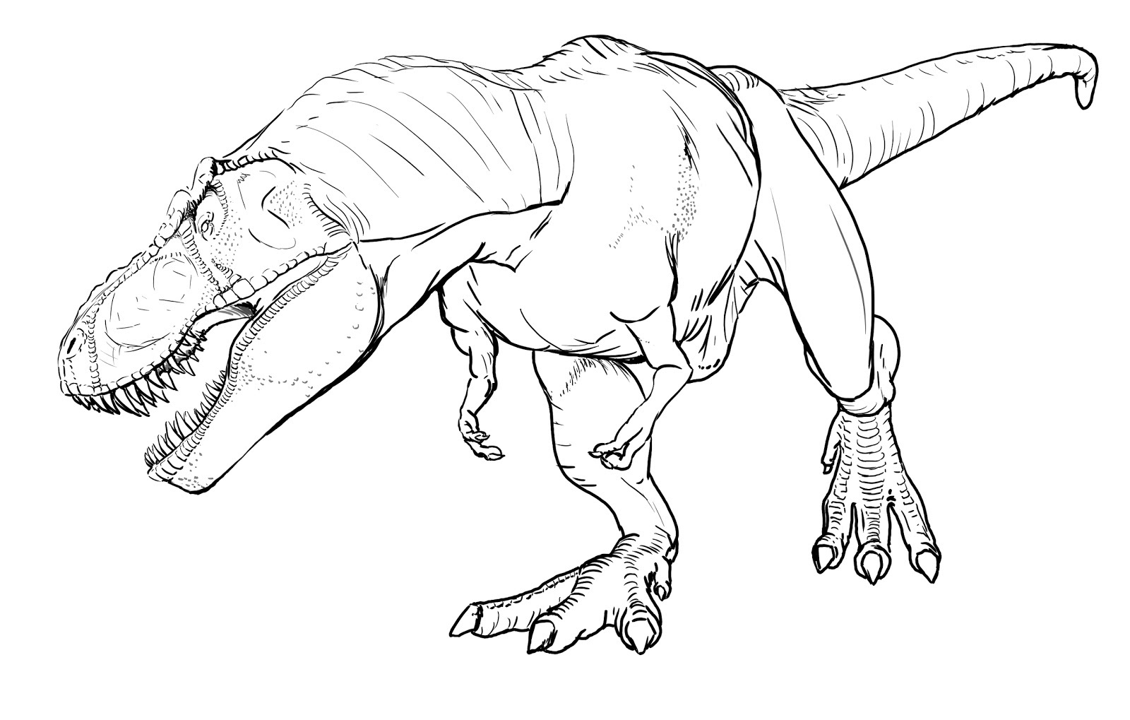 t rex coloring page 1
