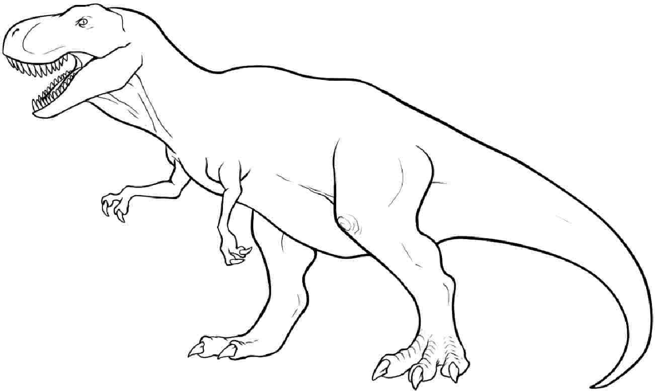 t rex coloring page 2