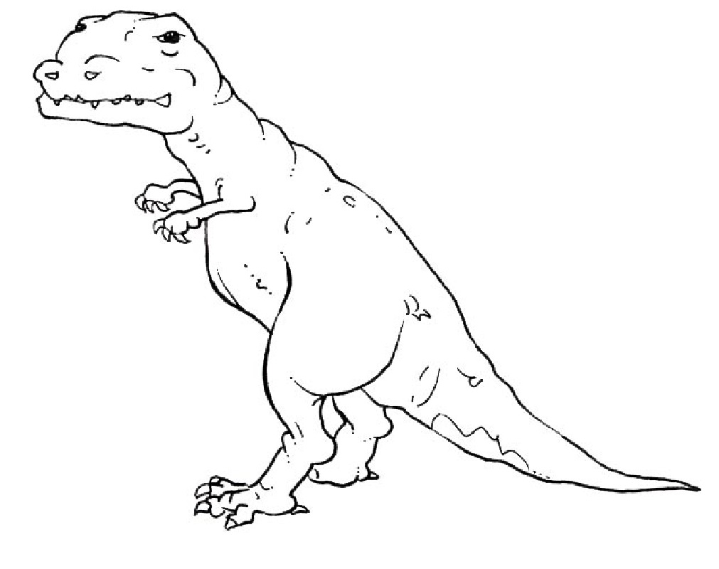 t rex coloring page 5