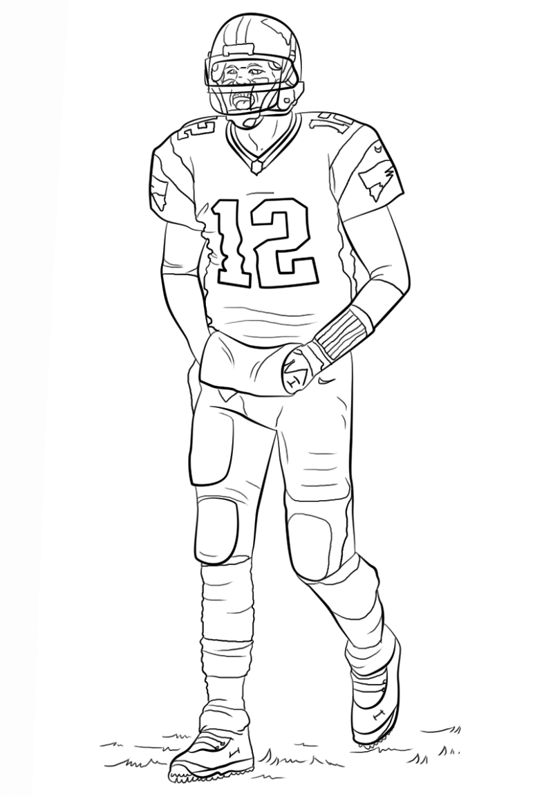 tom brady coloring pages 1