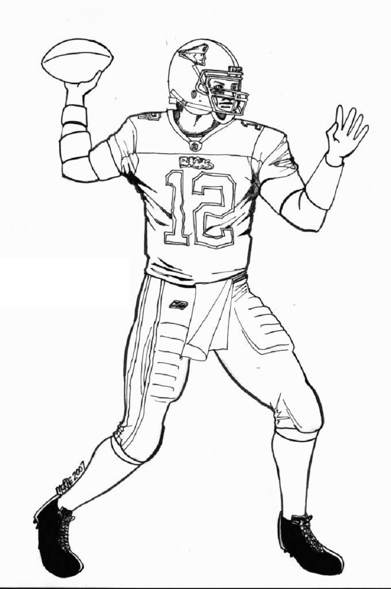 tom brady coloring pages 2