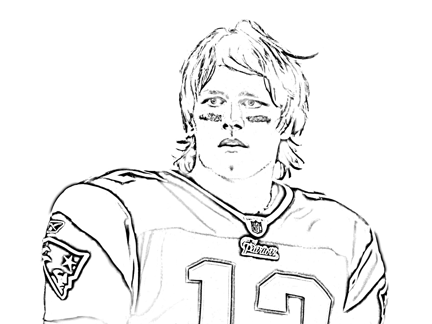 tom brady coloring pages 4