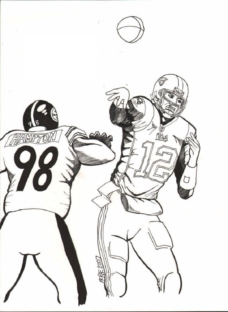 tom brady coloring pages 5