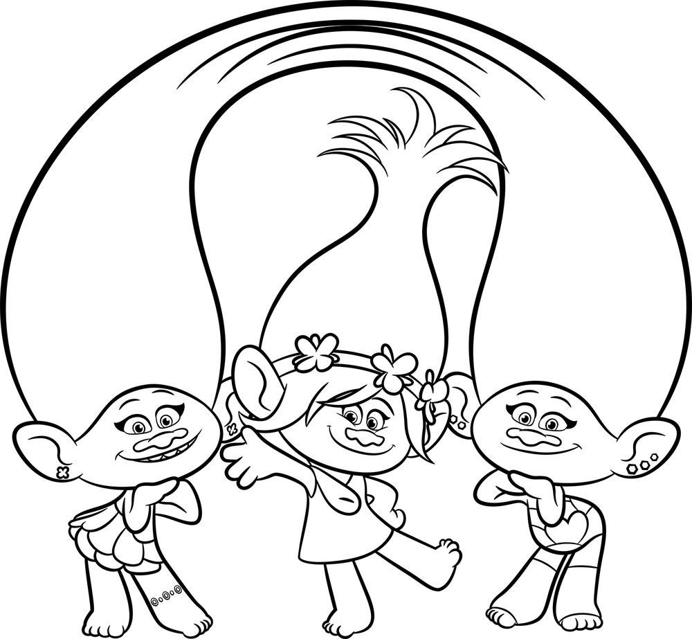 trolls coloring 1