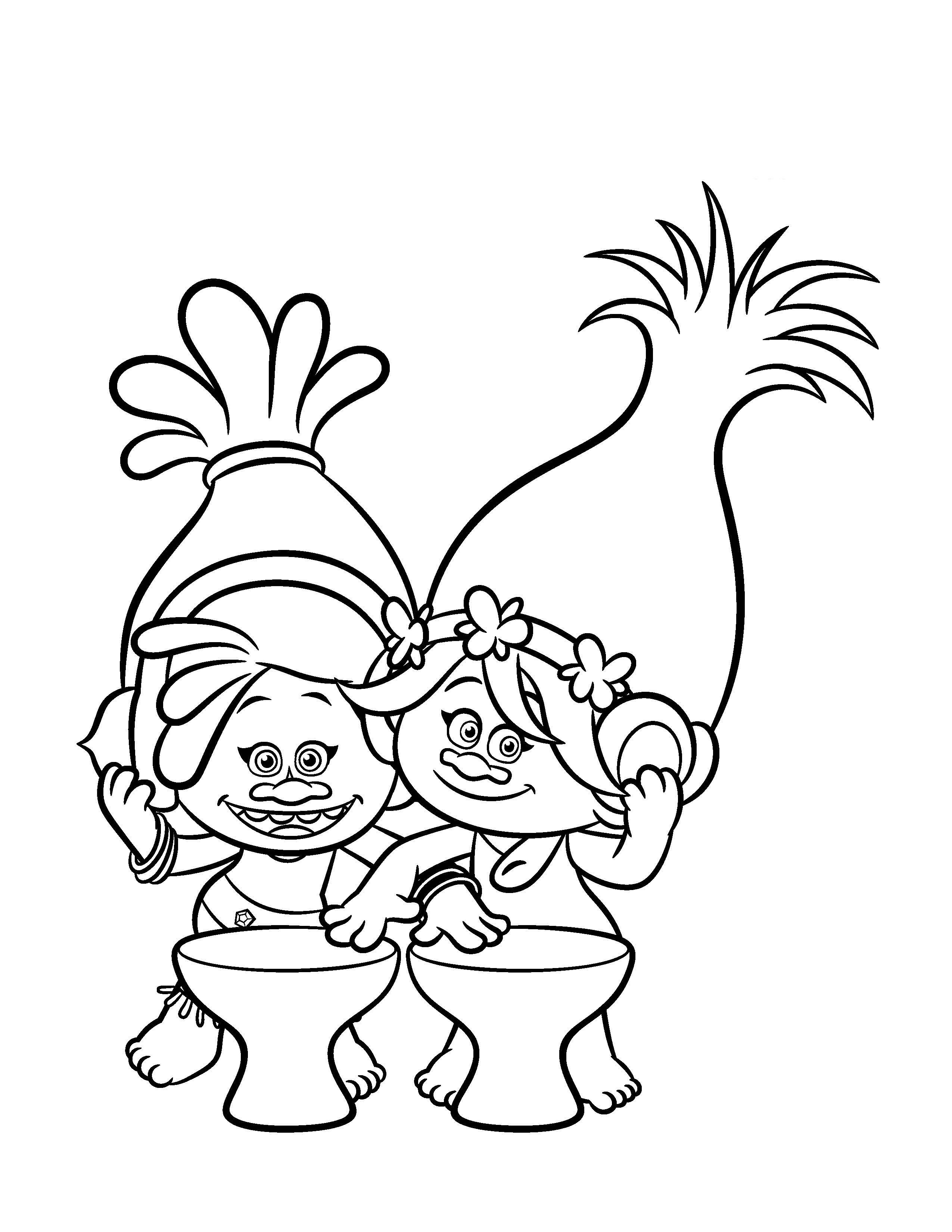 trolls coloring 2