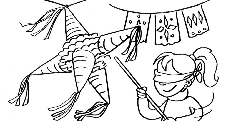 pinata coloring page 4