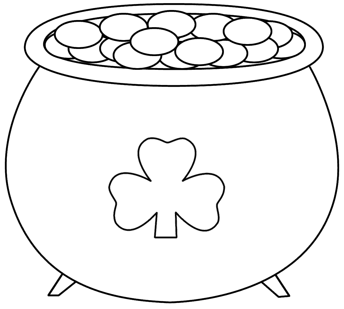pot of gold coloring page 1
