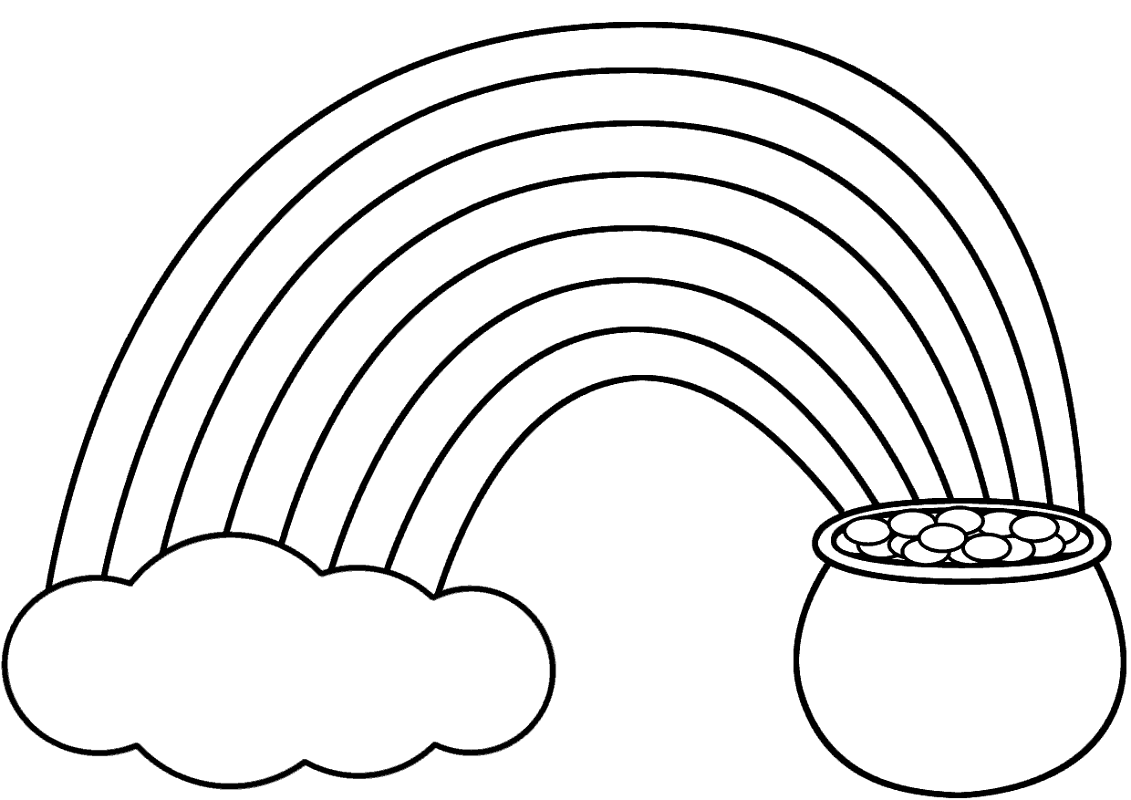 pot of gold coloring page 2