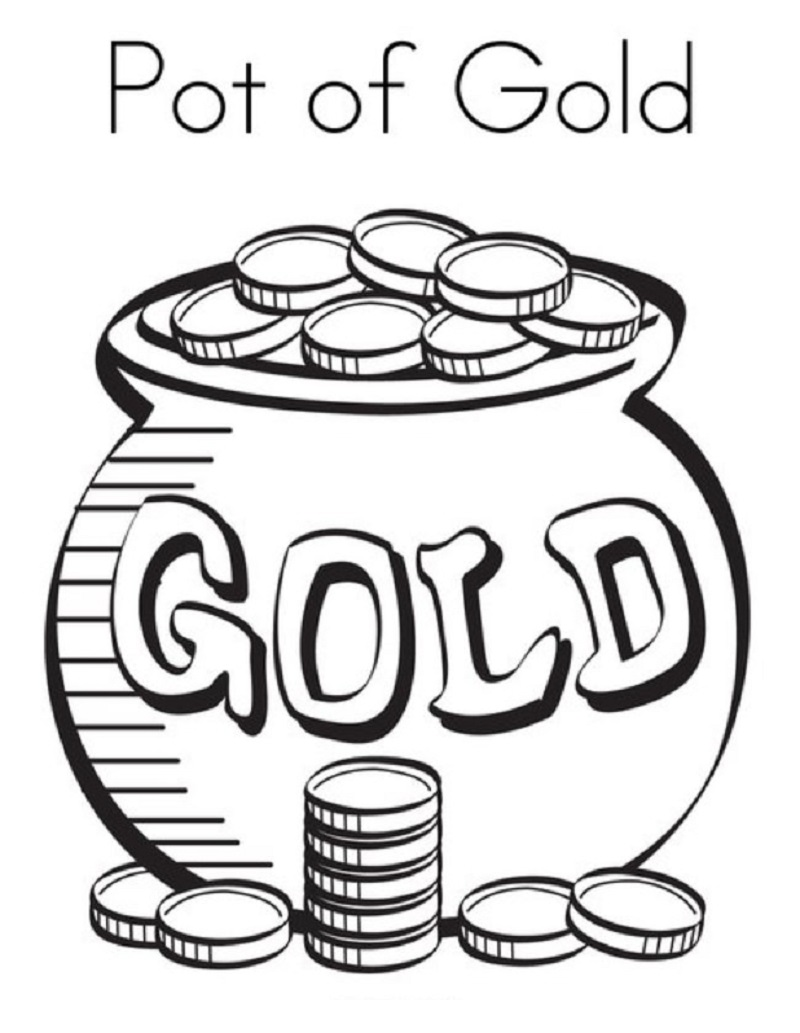 pot of gold coloring page 3