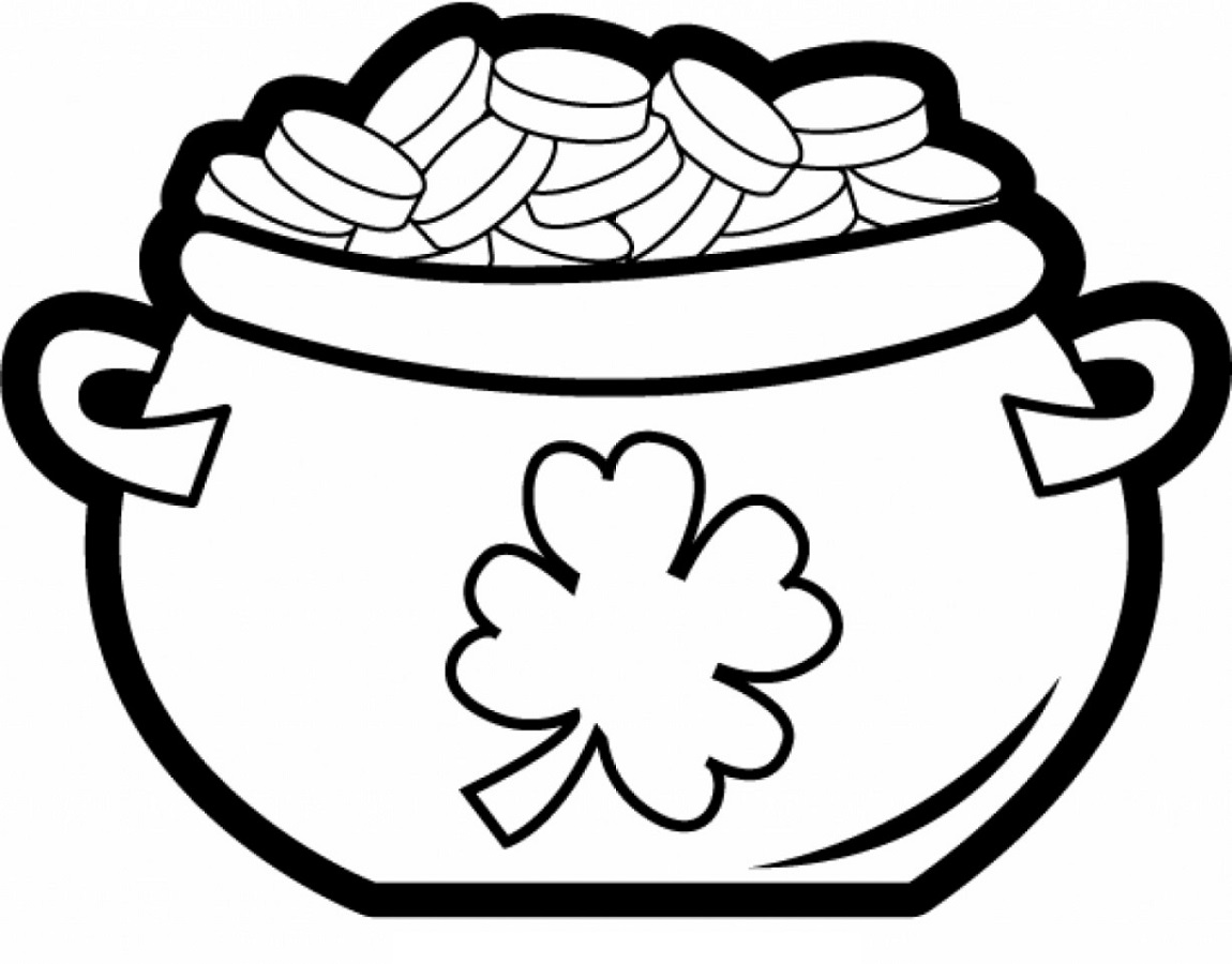Pot of Gold Coloring Page | Educative Printable