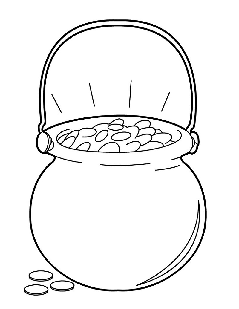pot of gold coloring page 5