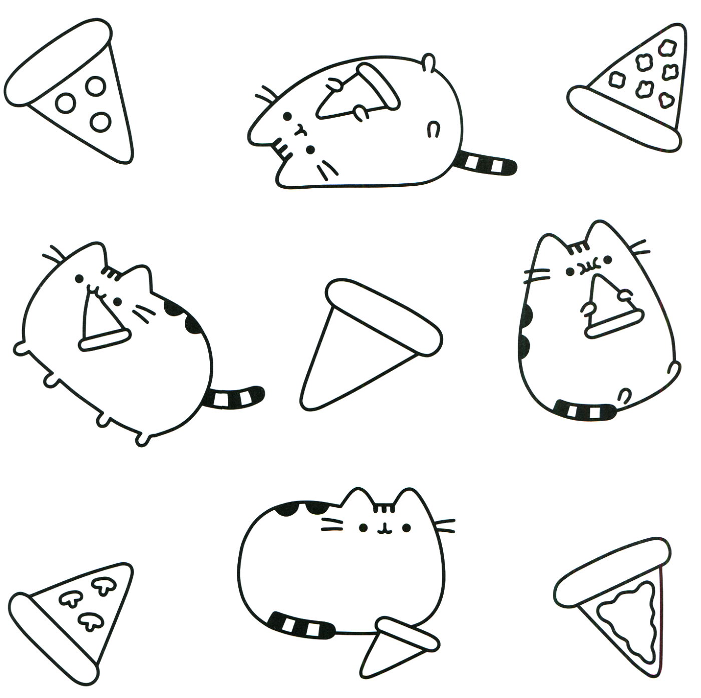 pusheen coloring book 4