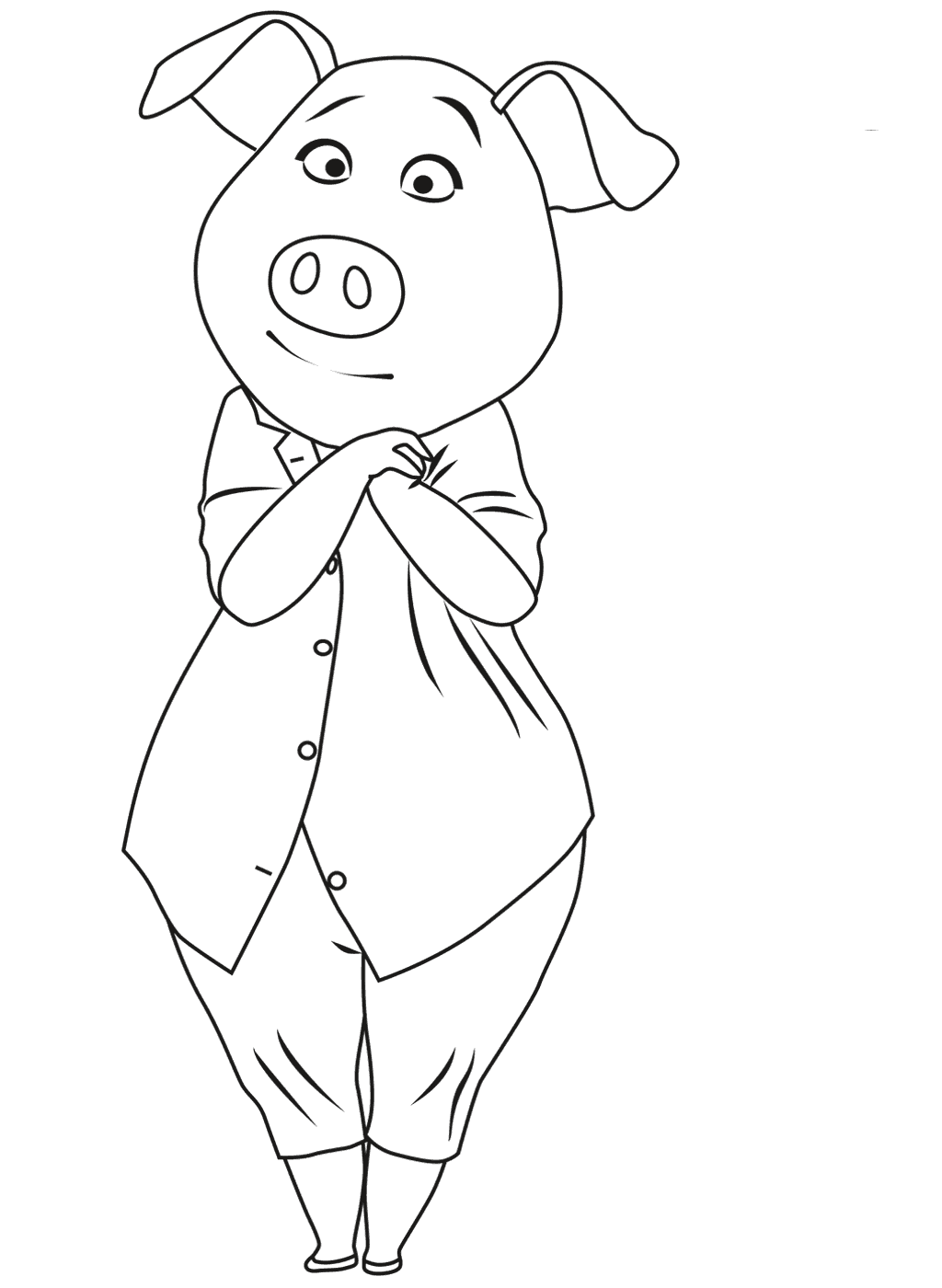 sing coloring pages 2